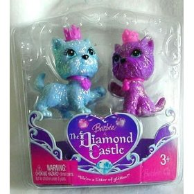 Barbie & The Diamond Castle Puppy Giftset - Purple and Blue