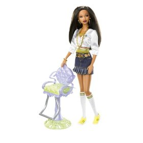 Barbie So In Style Stylin Hair Trichelle Doll